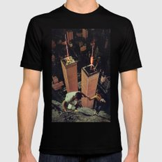 2 (Two) Black LARGE Mens Fitted Tee