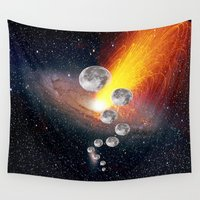sci fi Wall Tapestries featuring Sci-Fi Space Universe by  Agostino Lo Coco