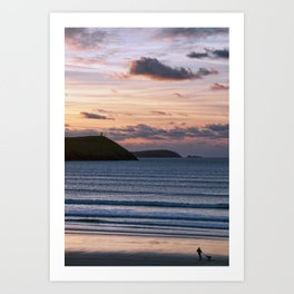 Polzeath Sunset Art Print