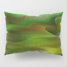 Waves of Abstraction (olive-apple-avocado green) Pillow Sham
