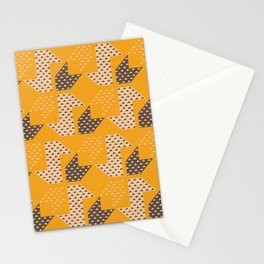 Clover&Nessie  Mandarin/Mocha Stationery Cards