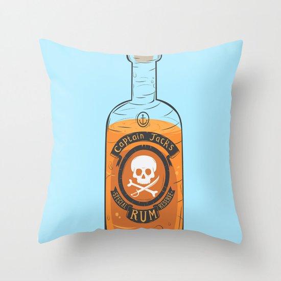 Captain Jack's Special Rum Reserve Throw Pillow
