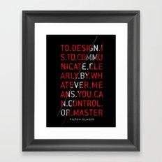 To Design by Milton Glaser Framed Art Print