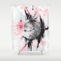 bruno mars Shower Curtains featuring Mars by Alexis Marcou