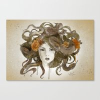 medusa Canvas Prints featuring Medusa by Marine Loup