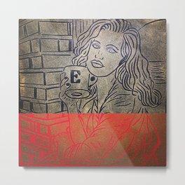 Original Linocut Art By Gina Lee Ronhovde Metal Print