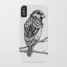 Two Sparrows by Sketchy Reputation iPhone Case