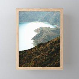 Fire Lake Framed Mini Art Print