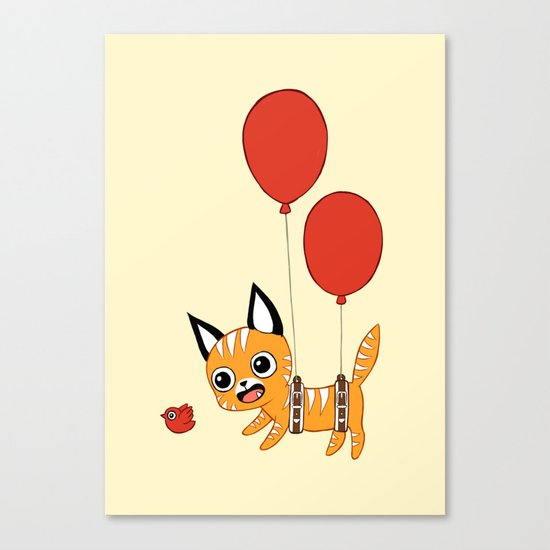 Balloon Cat Canvas Print