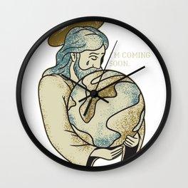 Jesus Coming Soon Wall Clock