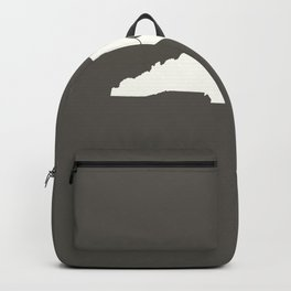 North Carolina is Home - White on Charcoal Backpack