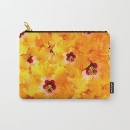 Hibiscus Random Pattern Carry-All Pouch
