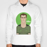murray Hoodies featuring Andy Murray Tennis Illustration by Gary  Ralphs Illustrations