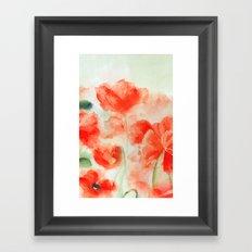 Flanders Poppies Framed Art Print