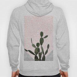 Cactus on Concrete and Pink Persian Mosaic Mandala Wall Hoody