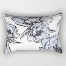 floating flowers Rectangular Pillow