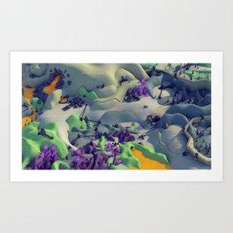 Outpost Alpha Art Print