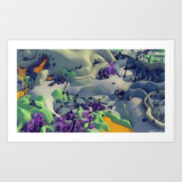 Outpost Alpha Art Print