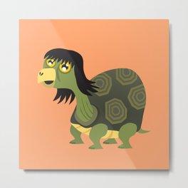 Mullet Turtle Metal Print