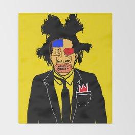 Jean Michelle Basquiat Throw Blanket
