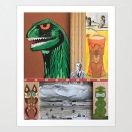 Tiki Monsters Of Mass Destruction Art Print