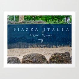 Piazza Italia Argyle Square Art Print