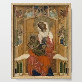Unknown Artist (Bohemian) - Mary Enthroned with the Child (Glatz Madonna) (1350) Serving Tray