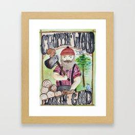 Lumberjack Life Framed Art Print