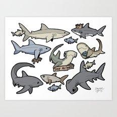 Save ALL Sharks! Art Print