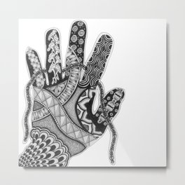 Zentangle®-Inspired Art - ZIA 33 Metal Print