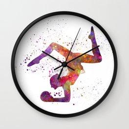 Rhythmoc Gymnastics woman silhouette Wall Clock