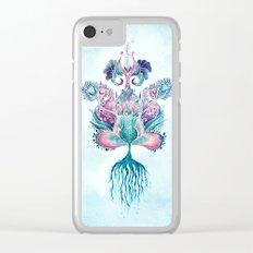 ANELIA BLUE Clear iPhone Case