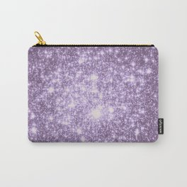 Lilac Galaxy Sparkle Stars Carry-All Pouch