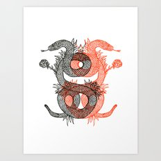 Two Serpents Art Print