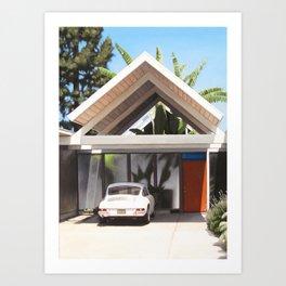 Eichler With Porsche Art Print