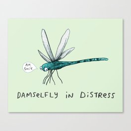 Damselfly in Distress Canvas Print