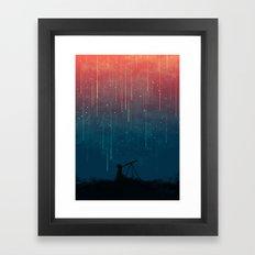 Meteor rain Framed Art Print