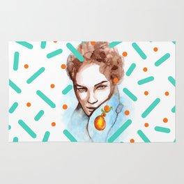 Watercolor glance Rug