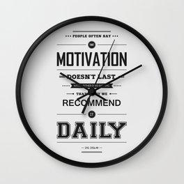 Lab No. 4 People Often Say Zig Ziglar Motivational Quote Wall Decor Wall Clock