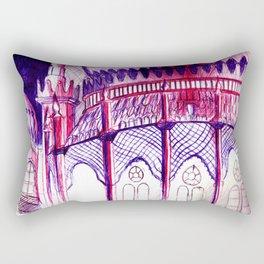 Pavillion at Night Rectangular Pillow