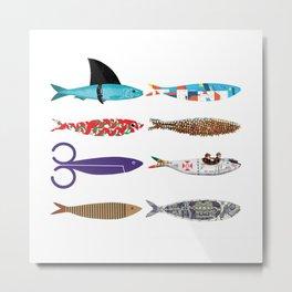 Sardines Metal Print