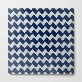 Enigmatic blue design Metal Print