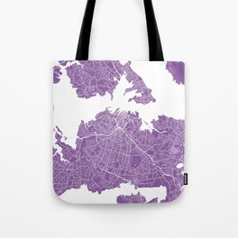 Auckland map lilac Tote Bag