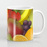 fruit Mugs featuring Fruit by AdamSteve