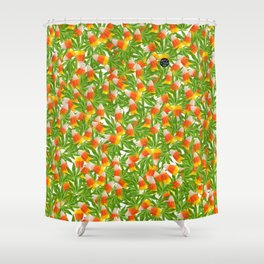 Candy Corn and Cannabis Shower Curtain