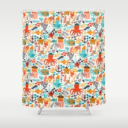 Pirates In The Deep Shower Curtain