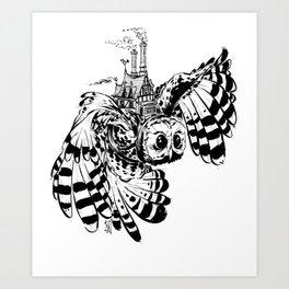 Travel By Owl Art Print