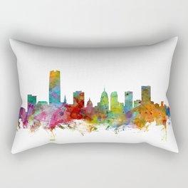 Oklahoma City Skyline Rectangular Pillow