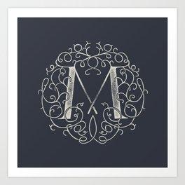 """M""ONOGRAM Art Print"