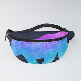 GORILLA IN SPACE // Animal Graphic Art // Watercolor Canvas Painting // Modern Minimal Cute Fanny Pack
